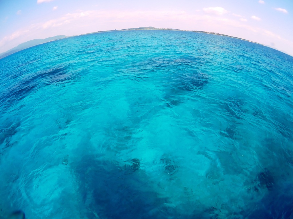 The famous blue water of Okinawa is a big atractive for divers and tourists.